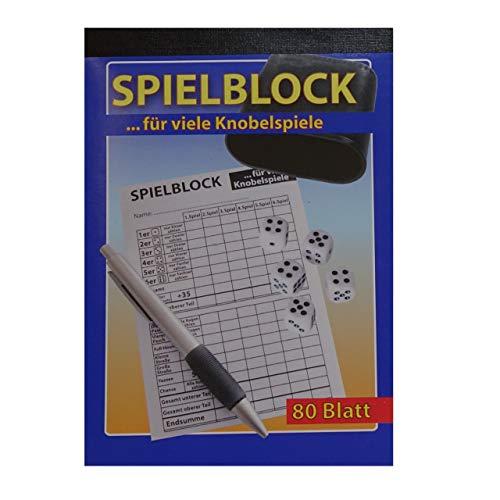 ka Knobelspiel Würfelspiel Spielblock Knobel Würfel Block 80 Blatt Knobelblock Spiel