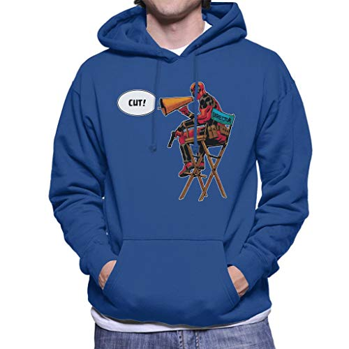Marvel Deadpool Director Shouting Cut Men's Hooded Sweatshirt