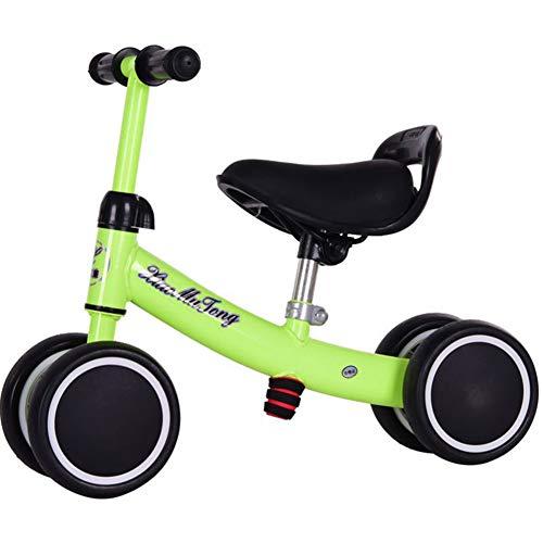 Y-Bikeee Bebé Equilibrio Bicicleta Niños Caminante por 10-36 Meses Sin Pedal Infantil 4 Ruedas Bicicleta Niño Bicicleta El Primer Regalo,Green