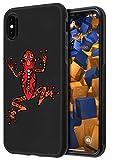 mumbi Hülle kompatibel mit iPhone X / XS Handy Hülle Handyhülle double GRIP mit Motiv Frosch, schwarz