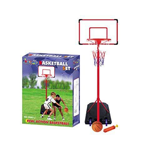 HFRTKLSAW Soporte de baloncesto ajustable, soporte de baloncesto ajustable para interiores y exteriores, 1.7-2.16M para niños