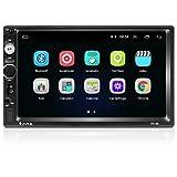 Android 9.1 Autoradio Bluetooth 2 DIN 7 Pollici 1080P HD Touch Screen Supporto GPS Navigation WiFi Collegamento Mirror FM Radio 2G/16G Car Multimedia Radio (Telecamera Posteriore Inclusa)