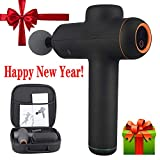 FREEDARE Massage Gun, Percussion Muscle Massager, Deep Tissue for Muscle Relief, Handheld Electric Body Massager, Portable Super Quiet, 4 Heads, 6 Speed Levels with 8H Battery Life