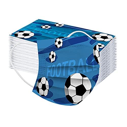 DeaAmyGline 50 Stück Erwachsene Einweg Europa Cup Football Mundschutz mit Motiv 3-lagig Mund-Nasen-Schutz Atmungsaktiv Mund-Tuch Bandana Halstuch Schals