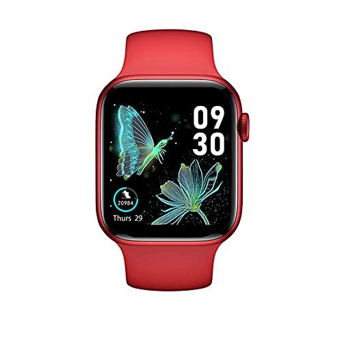 Ownlife Nuevo HW22 SmartWatch Hombres Mujeres 1,75 Pulgadas Pantalla HD Bluetooth Call DIY Watchfaces Smart Watch Sports Fitness Reloj para Android iOS (Color : Red)