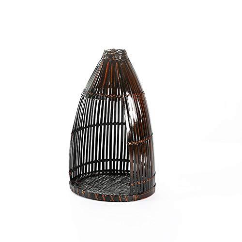 ZXW Ablagekorb- Japanisches Restaurant mit Restaurant im Hotelmahlzeit-Präsentationskorb Antiker dekorativer Vogelkäfig-Aufbewahrungskorb (Color : Dark Brown, Size : 30x50cm)