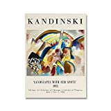 Van Gogh Kandinsky artista exposición decoración de arte de pared, carteles y grabados nórdicos, pinturas en lienzo sin marco A3 20x30cm