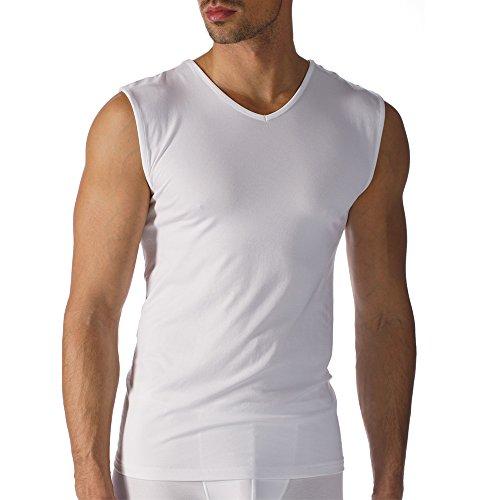Mey 2er Pack Herren Business-Shirt – Größe 6 – Weiß – Unterhemd ohne störende Seitennähte – Muskel-Shirt – Tank Top - 42537 Software