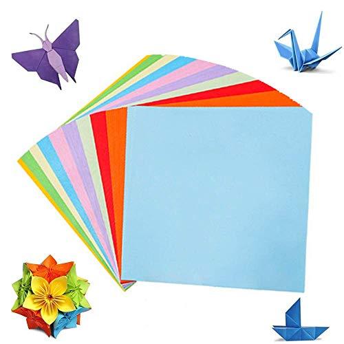 Origami Papier, 100 Blätt 15 x 15 cm Farbigem Origami 10 Verschiedenen Farben, für Weihnachts Origami DIY Kunst und Traditionelle Kunsthandwerk Verwendet