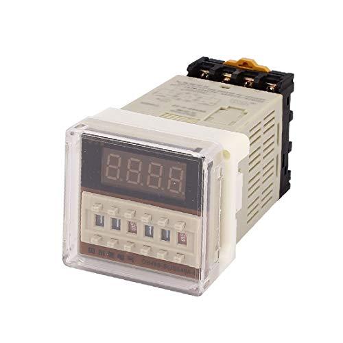 X-DREE DH48S-S-2Z AC/DC24V 8P DIN Rail Delay Relay 0.1S-99H w Base(DH48S-S-2Z AC / DC24V 8P Relé de retardo del temporizador de tiempo del riel DIN 0.1S-99H w Base