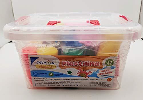 pryma plastilina 18 Colori Utensili per Plastilina Colorati Accessori e Utensili a Forme di Animali Strumenti per Argilla Modellabile Bambini Giocattoli Pongo da 900g