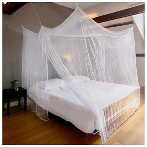 EVEN NATURALS Luxury Mosquito Net for Bed Canopy, XL Tent, Double to King, Camping Screen House,...