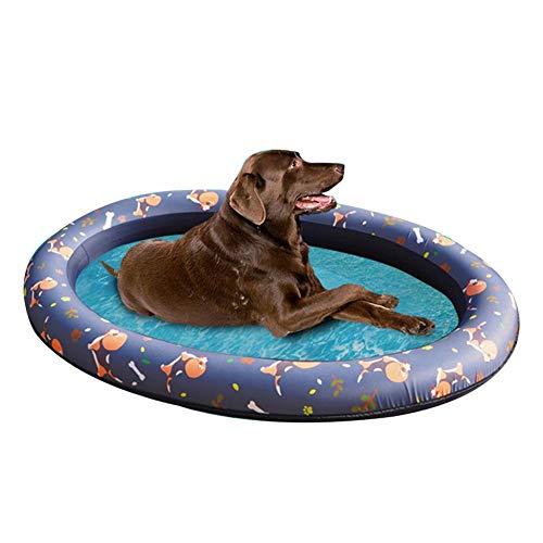 lossomly Flotador hinchable para perros, botes, mascotas, colchón de aire, flotador, piscina para perros, hamaca, piscina de verano, flotador con dos agujeros en el suelo para perros y cachorros