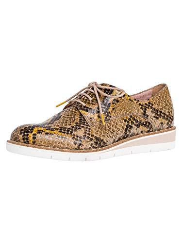Tamaris 1-1-23301-24, Zapatos de Cordones Derby para Mujer, Marrón (Taupe Snake 371), 38 EU