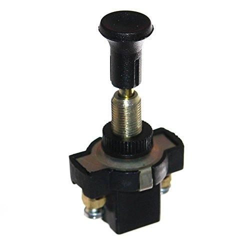 1x Einbau Zugschalter 6-32V Schalter für 8mm Loch Neu 2-polig Schraubklemmen 16A 12V Old-Harvest