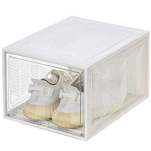 MYGZFF Caja de zapatos de almacenamiento, caja de zapatos de plástico transparente gruesa, caja de almacenamiento de zapatos, caja de zapatos, flip cubierta, caja de zapatos del cajón, caja de zapatos