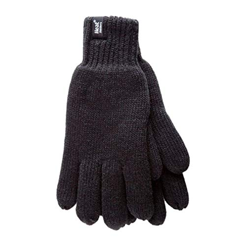 HEAT HOLDERS Neu! Mens Wärmehalter Weaver Thermal Insulated Handschuhe (Large/Extra Large, Plain Black)