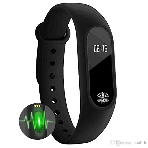 36017f92953 Bingo Himtronics Plastic M2 Waterproof Smart Fitness Band (Black)   Amazon.in  Sports