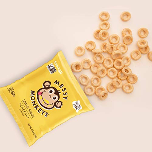 MESSY MONKEYS Baked Snack Cheese, 10 Bags