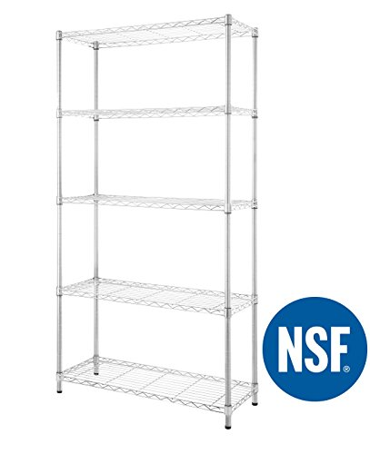 eeZe Rack ST-ETI001 HEAVY DUTY Steel Wire Chrome Shelving, Storage Rack, NSF CERTIFIED,...