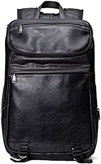 Fmdagoummzibeib Backpack, Black Leather Laptop Backpack,desirable Outside/travel/business Trip/hiking/climbing ,black( 36...