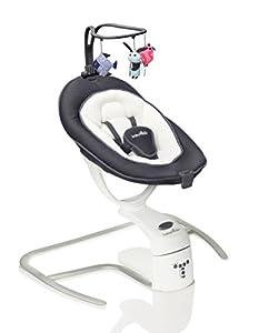 Babymoov Swoon Motion Silla Oscilante para Bebé, Zinc con Enchufe Británico