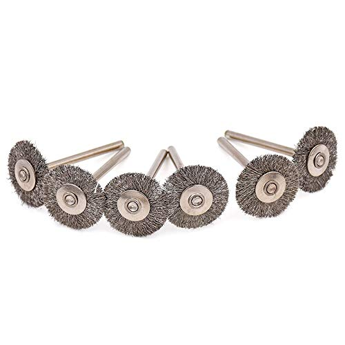ABST04833 Abrasive 100Pcs 22mm Rotary Brush for Dremel Wire Wheel Brushes Grinder Rotary Tool for Dremel Accessories for Mini Drill Polishing Tools - (Type: Steel Brush)