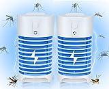Mosquito killer,2 Pcs Bug Zapper Lampada Elettrica Zapper Zanzara per la casa,trappola per zanzare e lumineuse per insetti killer per parassiti,mosche,tarme,moscerini della frutta ecc