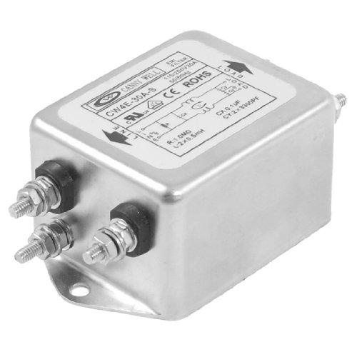 uxcell 30A AC Power Single Phase EMI Filter, 115V/250V, 50/60 Hz