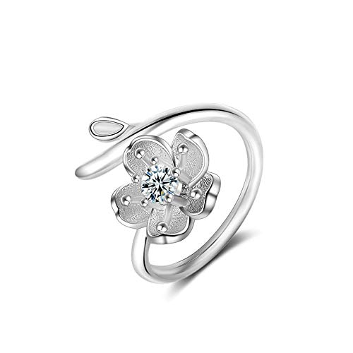 PRAK Damen 925 Sterling Silber Luxus Ringe,Hohlen AST Ringe Für Frauen Einstellbare Hochzeit Ring Fashion Kreative Sekt Süß Verschleiß Geburtstagsgeschenk Persönlichkeit Design