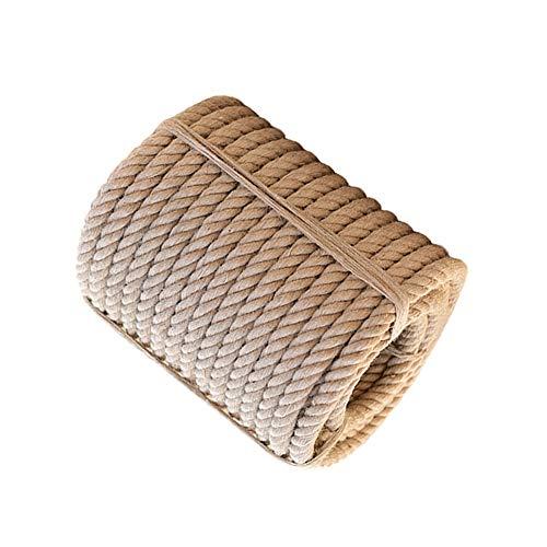 LIIHSG Seile 30mm natürliches Manila-Seil, braunes natürliches Seil - 10m / 20m / 30m / 40m / 50m Premium Twisted Cord zum Klettern Landschaftsgestaltung Dekorationen Tauziehen (Size : 10m)