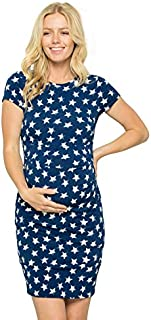 My Bump Women's Maternity Bodycon Causual Short Sleeve...