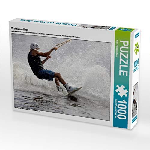 CALVENDO Puzzle Wakeboarding 1000 Teile Lege-Größe 64 x 48 cm Foto-Puzzle Bild von Marc Heiligenstein