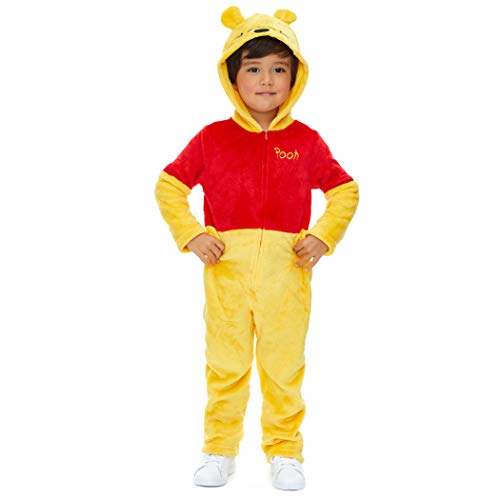 Disney Winnie The Pooh Newborn Baby Fleece Costume Hooded Coverall 0-3 Months