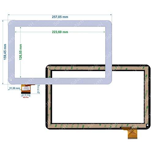 Soneth Vetro Touch Screen Digitizer 10,1  Archos 101 Copper Tablet PC Bianco