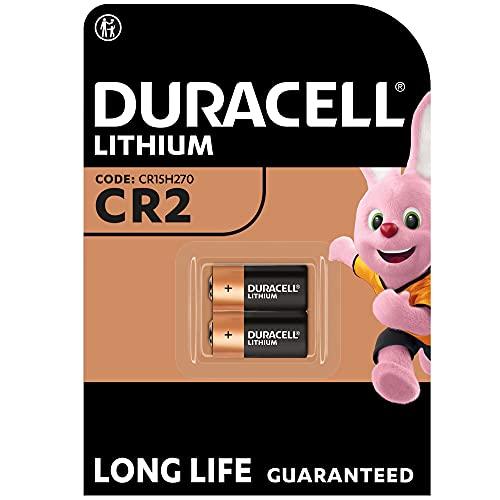Duracell High Power Lithium CR2 Batterie 3V, 2er-Packung (CR15H270) entwickelt für die Nutzung in Sensoren, schlüssellosen Schlössern, Blitzlicht & Taschenlampen