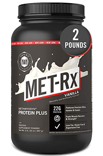 powerful MET-Rx Metamyosyn Protein Plus whey protein isolate And casein protein powder, perfect for meal replacement …