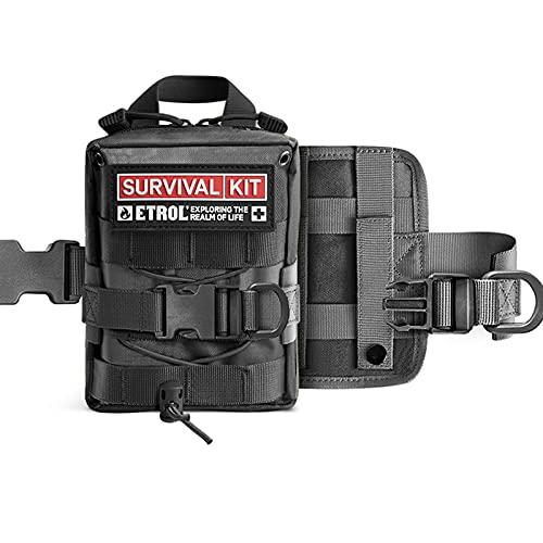 Pequeño Kit De Primeros Auxilios Impermeable Compacto Mini Kit De Emergencia Para Traumatismos Para El Hogar, Viajes, Camping, Senderismo, Vehículo, Lugar De Trabajo, Mochilero (solo Mochila)
