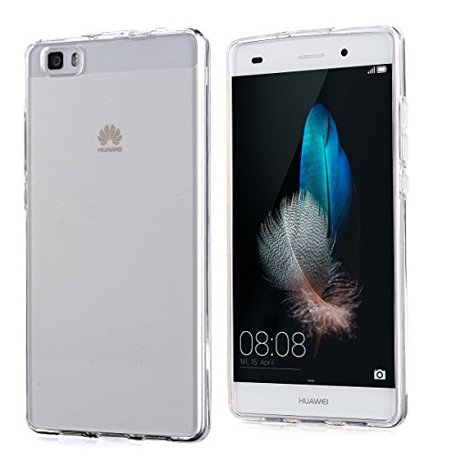 SDTEK Huawei P8 Lite (2015/2016) Funda [Transparente Carcasa] Case Bumper Cover Suave Crystal Silicona Huawei P8 Lite (2015/2016)
