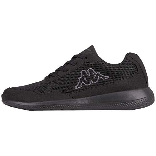 Kappa FOLLOW OC | Freizeit-Sneakers für Frauen und Männer | super-leicht, modisch und zeitlos | angenehmes Tragegefühl | atmungsaktiv, Größe 36 - 461116 black/grey, Größe 46
