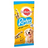 Pedigree Rodeo Duos - Dog Treats with Chicken & Bacon, 70 Sticks, 10 x 123 g