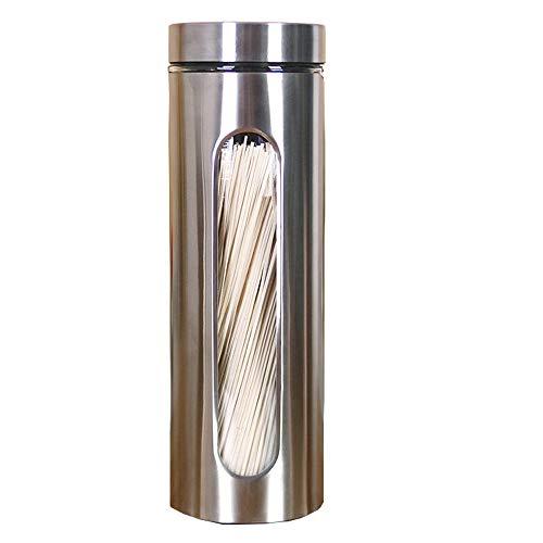 "Xkfgcm 1800ml Luftdichter Vorratsglas Vorratsgläser Spaghetti-Box Lock Spaghettidose Spaghetti-Makkaroni-Dosen aus Edelstahl Vorratsdosen Glas für Spaghetti und andere Lebensmittel 12\""x3.9\"""