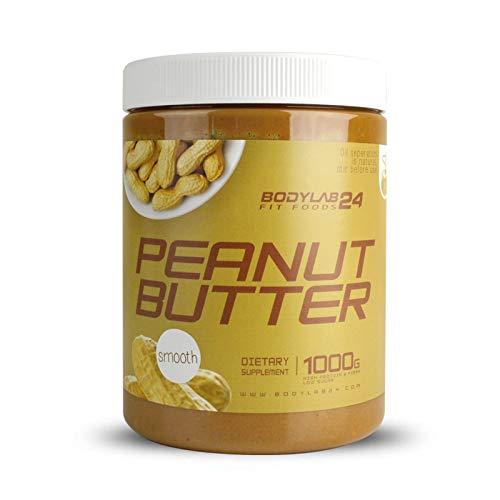Bodylab24 100% Peanut Butter 1000g | Erdnussbutter ohne Zusatzstoffe | Crunchy