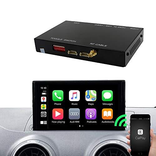 Carlinkit Wireless CarPlay/Android Auto Decoder-Kit,für Audi A3(2013 to 2018)/Q7(2016 to 2018),Zerstörungsfreie Aufrüstung des Originalautos (Support Navigation,Google,Waze Map,Siri,Spiegelung)