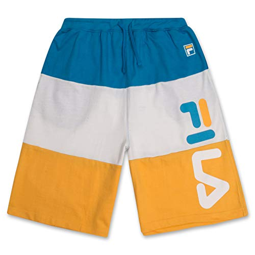 Fila Men's Shorts Big and Tall Shorts French Terry Sweat Shorts for Men Turquoise White Gold 5X