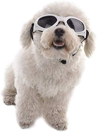 Rejoicing Gafas de sol para mascotas con forma de corazón y gafas de protección contra el desgaste de los ojos, impermeables, resistentes al viento, antiempañamiento, gafas de sol para gato
