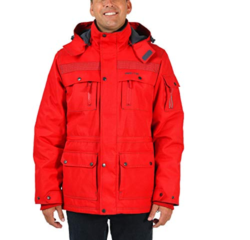 Arctix Men's Performance Tundra Jacket With Added Visibility, Formula One Red, Large
