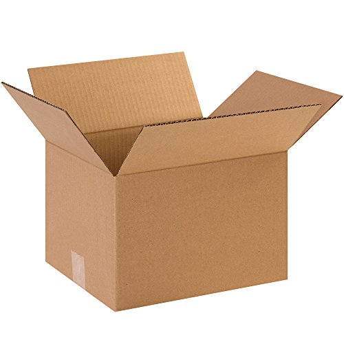 Aviditi 12108 Corrugated Cardboard Box 12' L x 10' W x 8' H, Kraft, for Shipping, Packing and Moving (Pack of 25)