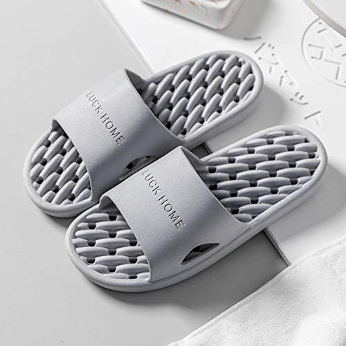 WENHUA Pantuflas para Hotel Casa Viaje, Hombre Zapatillas de Estar por Casa de Mujer Verano Baño, Masaje de pies Zapatillas de baño Antideslizantes Mujer, Gray_38 / 39