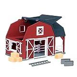 Terra by Battat – Wooden Animal Barn – Toy Barn Farm Toys Playset for Kids 3+ (20 pc)